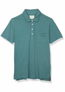 Billy Reid Men's Short Sleeve Slim Fit Pensacolo Polo Shirt with Pocket  M