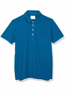 Billy Reid Men's Short Sleeve Slim Fit Pensacolo Polo Shirt with Pocket  S