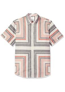 Billy Reid Men's Slim Fit Short Sleeve Button Down Murphy Shirt  M
