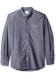 Billy Reid Men's Standard Fit Selvedge Pocket Button Down Shirt  XXL