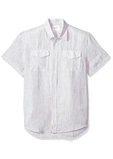 Billy Reid Men's Standard Fit Short Sleeve Button Down Graham Shirt  L