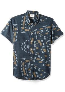 Billy Reid Men's Standard Fit Short Sleeve Button Down Tuscumbia Shirt  XL