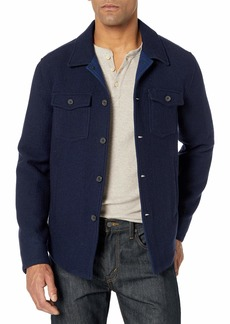 Billy Reid Men's Standard Fit Wool Cashmere Mo Shirt Jacket  L