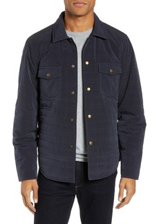 Billy Reid Michael Slim Fit Quilted Shirt Jacket