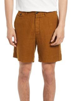 Billy Reid Moore Linen Shorts