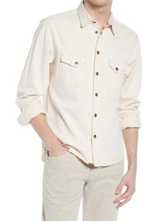 Billy Reid Organic Cotton Denim Button-Up Shirt