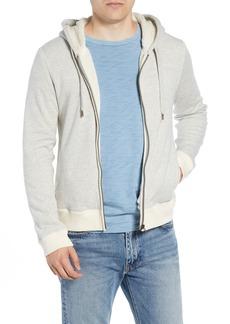 Billy Reid Panelled Fleece Zip Hoodie