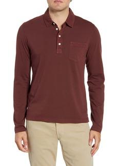 Billy Reid Pensacola Regular Fit Garment Dye Polo