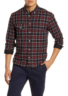 Billy Reid Regular Fit Plaid Cotton & Cashmere Button Down Shirt