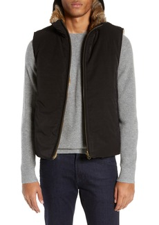Billy Reid Reversible Genuine Rabbit Fur Vest