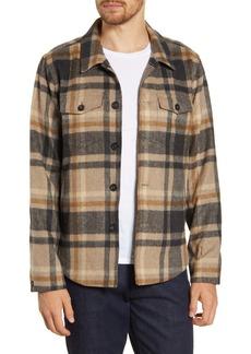 Billy Reid Standard Fit Plaid Button-Up Flannel Shirt Jacket