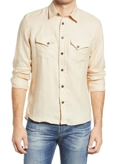 Billy Reid Standard Western Button-Up Linen Shirt