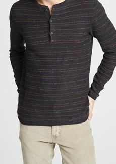 Billy Reid Striped Henley Shirt