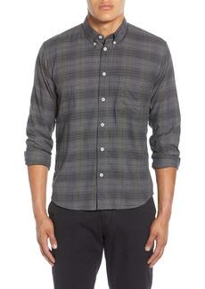 Billy Reid Tuscumbia Standard Fit Plaid Stretch Cotton Button-Down Sport Shirt