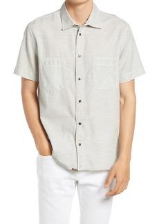 Billy Reid Tuscumbia Short Sleeve Cotton Button-Down Shirt