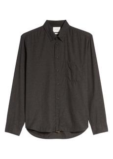 Billy Reid Tuscumbia Standard Fit Cotton & Cashmere Shirt