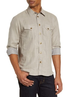 Billy Reid Western Regular Fit Snap-Up Shirt