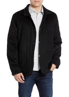 Billy Reid Wool Blend Jacket with Genuine Rabbit Fur