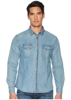 Billy Reid Distressed Denim Shirt
