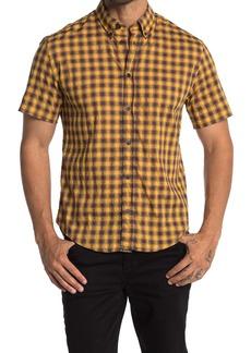 Billy Reid Murphy Plaid Short Sleeve Slim Fit Shirt