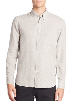 Billy Reid Patterned Long Sleeve Shirt