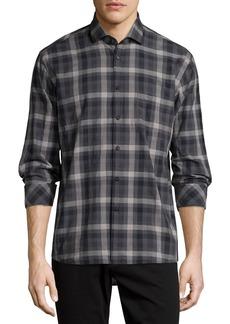 Billy Reid Plaid Long-Sleeve Oxford Shirt