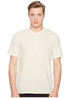Billy Reid Short Sleeve Striped Henley