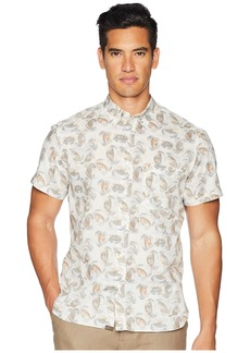 Billy Reid Short Sleeve Tuscumbia Crab Print Shirt