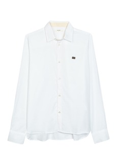 Billy Reid Taped Twill Button Front Shirt