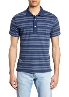 Billy Reid Textured Stripe Regular Fit Polo
