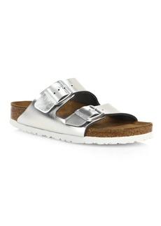 Birkenstock Arizona Metallic Leather Buckle Sandals