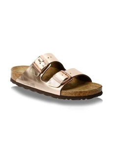 Birkenstock Arizona Metallic Slip-On Sandals