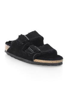 Birkenstock Arizona Shearling & Suede Sandals