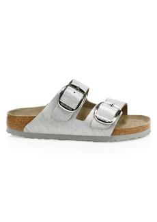 Birkenstock Arizona Big Buckle Metallic Leather Sandals