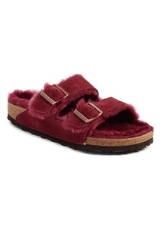 Birkenstock Arizona Genuine Shearling Lined Slide Sandal (Women)