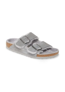 Birkenstock Arizona Genuine Shearling Slide Sandal (Women)