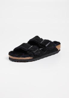 Birkenstock Arizona Shearling Sandals - Narrow