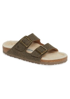 Birkenstock Arizona Slide Sandal with Faux Shearling (Men)