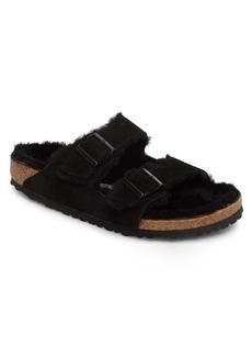 Birkenstock Arizona Slide Sandal with Genuine Shearling (Men)