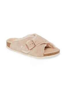 Birkenstock Arosa Genuine Shearling Slide Sandal (Women)
