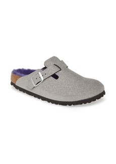 Birkenstock Boston Genuine Shearling Giltter Dust Clog (Women)