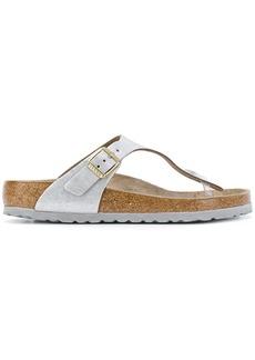 Birkenstock brushed-effect sandals - Metallic