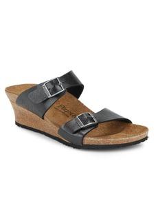 Birkenstock Dorothy Graceful Leather Wedge Sandals