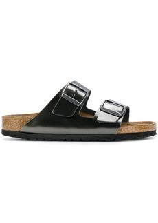 Birkenstock double-strap sandals - Metallic