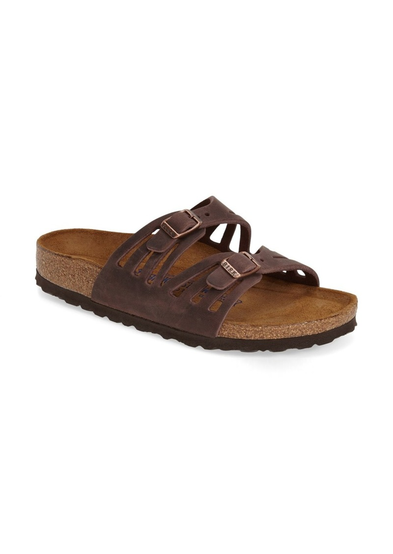 Birkenstock 'Granada' Soft Footbed Oiled Leather Sandal