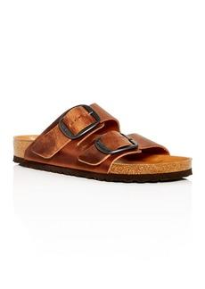 Birkenstock Men's Arizona Big Buckle Leather Slide Sandals