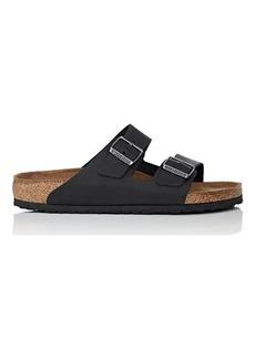 Birkenstock Men's Arizona Oiled Leather Double-Buckle Sandals