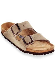 Birkenstock Men's Arizona Soft Footbed Two Band Suede Sandals Men's Shoes