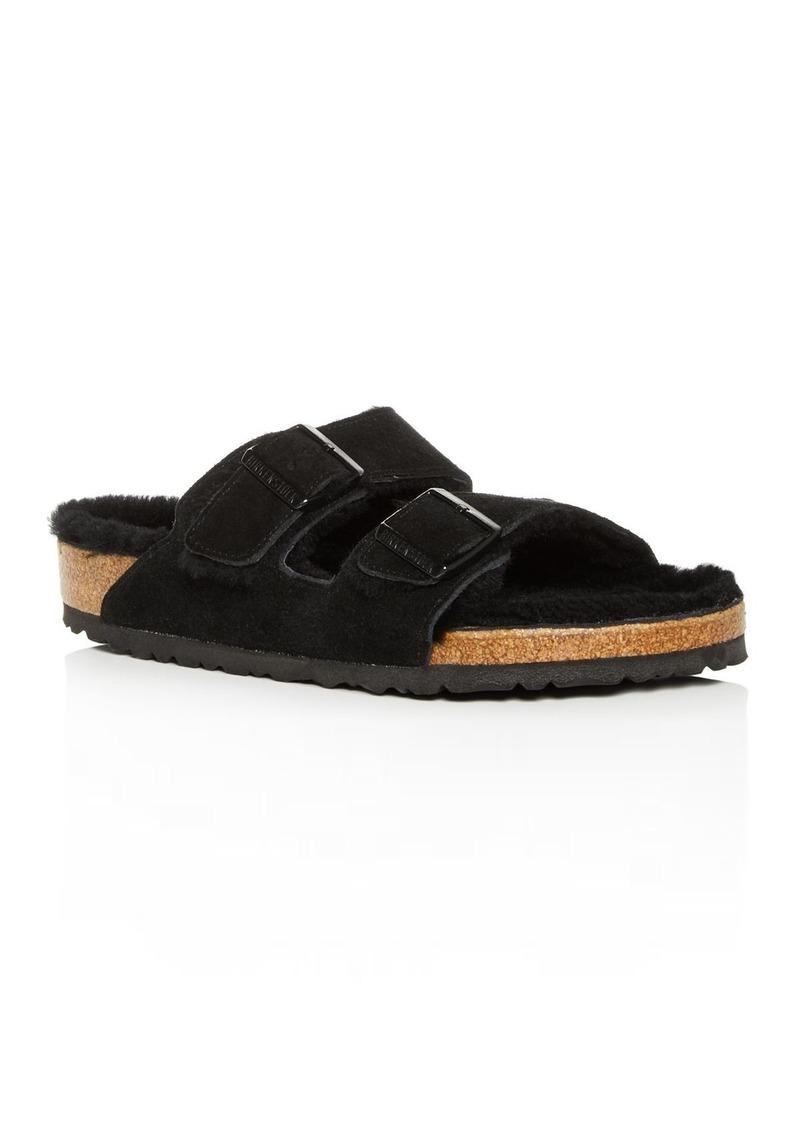 Birkenstock Men's Arizona Suede & Shearling Slide Sandals