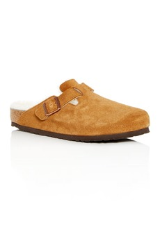 Birkenstock Men's Boston Leather & Shearling Mules